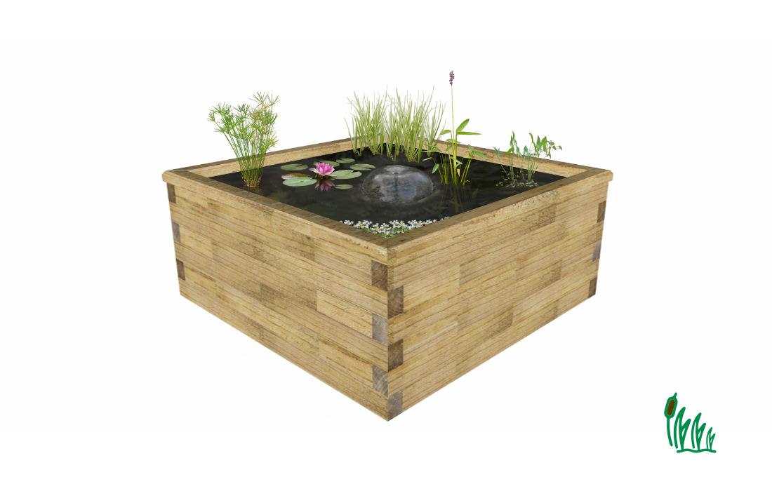 kit jardin aquatique hors sol de taille large cosy bassin