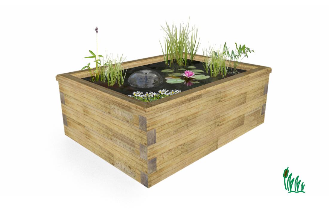 kit jardin aquatique hors sol rectangulaire cosy bassin
