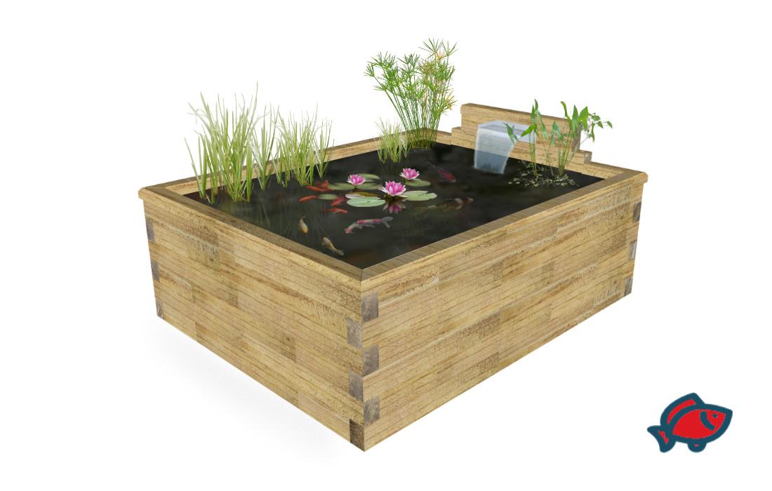 kit bassin hors sol cosy bassin de forme rectangulaire