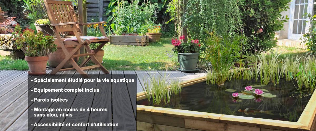 Kits bassins et jardins aquatiques hors-sol - Cosy Bassin ...