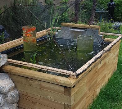 filet anti heron bassin hors-sol